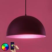 LED pendant light Bowl WiFi 41cm black