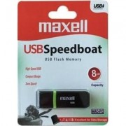 USB памет MAXELL SPEEDBOAT, USB 2.0, 8GB, Черен