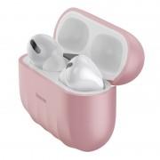 Silikonowe etui ochronne Baseus Shell Pattern do Apple AirPods Pro (różowe)