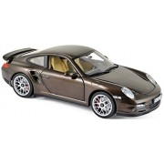NEW 1:18 W/B NOREV COLLECTION - BROWN 2010 PORSCHE 911 TURBO Diecast Model Car By Norev