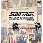 Star Trek The Next Generation Portfolio Prints Trading Cards Series One Factory Sealed