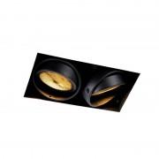 QAZQA Recessed spot black 2-light GU10 AR111 Trimless - Oneon Honey
