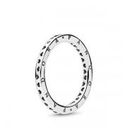 Pandora Signature Hearts of PANDORA Ring, Ring uit Sterling zilver, 197133-62