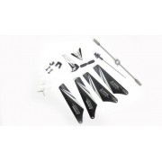 Full Set Replacement Parts for Syma S107C RC Helicopter with Camera, Main Blades, Main Shaft,Tail Decorations, Tail Props, Balance Bar, Gear Set,Connect Buckle -White Set-