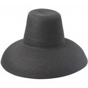 de Sol de ala ancha para con cordón de viento playa veranos de paja paramodis alta calidad playa Natural paja sol gorras Sombrero LANG(#Negro)