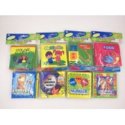 Sayhi Baby's First Non-Toxic Soft Cloth Book Set- Squeak, Rattle, Crinkle - Pack of 8