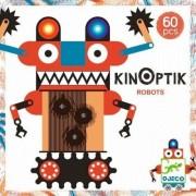 DJECO Układanka magnetyczna - optyczna Kinoptik ROBOTY - 60 el. do układania robotów, DJ05611