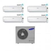 Samsung Condizionatore Samsung Quadri Split Inverter 7000+7000+7000+7000 7+7+7+7 Btu Ar5500m Wi-Fi Classea Aj070fcj4eh/eu