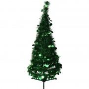 Bellatio Decorations Kunst kerstboom 90 cm lametta grote pailletten - Kunstkerstboom