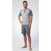 Schlafanzug kurz, Farbe grau meliert, Gr.56