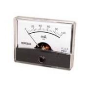 Instrumento Panel Amperimetro Analogico 60x47mm 100ma Cc