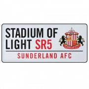 Club Licensed Sunderland Stadium of Light Straatbord - een Maat