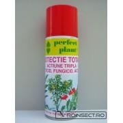 Spray Protectie Totala Actiune Tripla: insecticid, fungicid, acaricid Perfect Plant 200ml