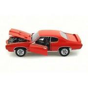 1969 Pontiac GTO Judge, Orange - Motor Max 73133 - 1/18 Scale Diecast Model Toy Car