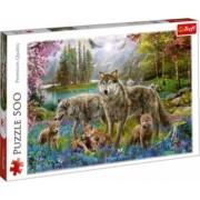 Puzzle peisaj cu animale salbatice in padure 500 piese