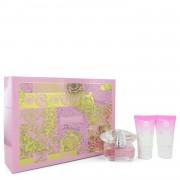 Bright Crystal by Versace Gift Set -- 1.7 oz Eau De Toilette Spray + 1.7 oz Body Lotion + 1.7 oz Shower Gel