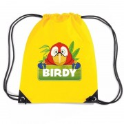 Bellatio Decorations Birdy de Papegaai rugtas / gymtas geel voor kinderen