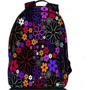 Sleevy laptop rugzak 15,6 Deluxe paarse/roze bloemetjes