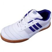 Port Men's White Squash Pu Badminton Shoes