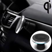 Apple POFAN YAOMAISI M-02 2 in 1 Qi standaard auto Wireless Charging + magnetische houder voor auto huis kantoor voor iPhone Samsung LG Nokia HTC Huawei en andere Smartphones