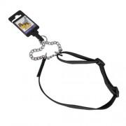 Hundhalsband stryp justerbart av nylon svart 20mm x 45-65cm