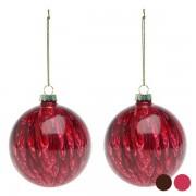 Globuri de Crăciun (2 pcs) 113572 - Culoare Roșu