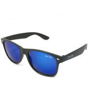 Silver Kartz Wayfarer Rectangular Unisex Blue UV Protection Wayfarer Sunglass (scwy095//Black)
