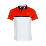Lacoste Color Block Pique Polo Red/White-Marine XL
