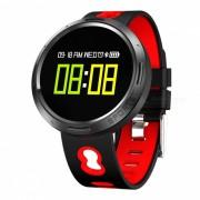 Pulsera inteligente de la pantalla tactil a color X9-VO con control de sueno de oxigeno en la sangre de la presion arterial del ritmo cardiaco del podometro - rojo