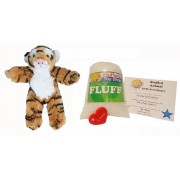Make Your Own Stuffed Animal Mini 8 Inch Fluffy Bangle Tiger Kit - No Sewing Required!