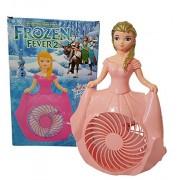 Pink Frozen Table Fan / Rechanrgable table fan for Girls / Frozen Elsa Toy Fan / Study Table Fan / Frozen Gift