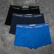 Calvin Klein Low Rise Trunks 3 Pack Blue/ Navy/ Black