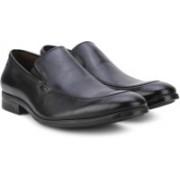 Clarks Banfield Step Black Leather Slip-on Shoe For Men(Black)