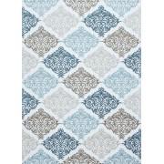 Covor Modern & Geometric Seattle, Acril, Albastru, 80x150