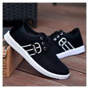 Zapatos Para Hombre De Encaje De Deportes - Negro