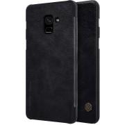 Nillkin Qin Series PU Leather Case Samsung Galaxy A8 Plus (2018) - Black