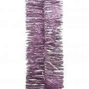 Geen 2x Lila paarse kerstversiering folie slinger 270 cm