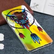 Samsung Voor Galaxy S9 + patroon Noctilucent Windbell uil de zachte back cover Beschermhoes TPU