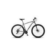 Bicicleta Colli MTB High Performance Cinza Aro 29 Alum. Kit Shimano 21M Susp. Dianteira Freios a Dis