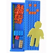 Ultimate Building Blocks Fan Pack- Block Pencil Case Packed with Pencil, Erasers, Sharpener, and Notepad - Blue by Inc by Lifetime Inc
