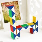 Kindergarten Niños No Tóxico 24 Cambiable Plástico Magic Ruler Snake Forma Gobernante Juguetes Educativos, Tamaño: 8,5 * 5,5 * 2cm