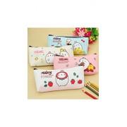 ELECTROPRIME Cute Cartoon Rabbit Pencil Case Box Pen Storage Bag Pouch Cosmetics Makeup Bag White