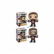 Funko Set 2 Pop Star-lord Chase Exclusivo Y Normal Guardians Of The Galaxy