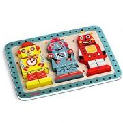 Janod Robots Chunky Puzzle