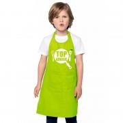 Bellatio Decorations Top kokkie keukenschort lime groen kinderen