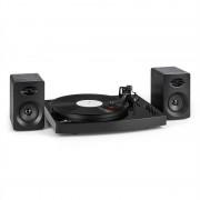"auna TT-Play Gira-Discos 2 Colunas Stereo (3""/10W) BT 33 1/3 & 45 U/min Preto"