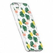 Husa Silicon Transparent Slim Tropical 93 Apple iPhone 5 5S SE