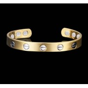 RS Bracelet magnétique en cuivre avec aimants et vis décoratives
