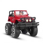 JJX-TECH 1 10 Remote Control Car 4WD Shaft Drive Truck Large Four-wheel Drive Remote Super Off-road racing Toy Radio Controlled rc Chargeable Off-road Rock Crawler MYX-301 Vehicle Red