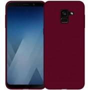 Protectie spate Senno Pure Flex Slim Mate TPU pentru Samsung Galaxy A8 2018 (Rosu)